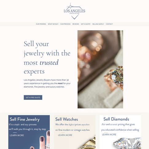 Los Angeles Jewelry Buyers Site Design