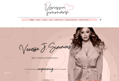 Vanessa J Simmons Site Design
