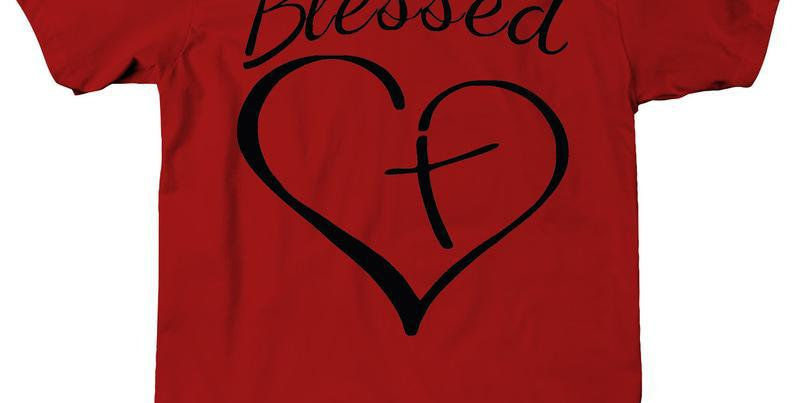 T Shirt Blessed Heart Cross