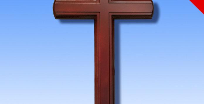 大號55厘米掛牆壁十字架 桃木韓款 耶穌基督教會
