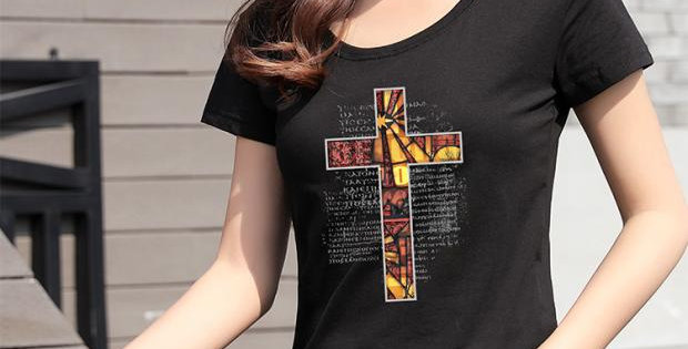 T Shirt Good Shepherd Cross
