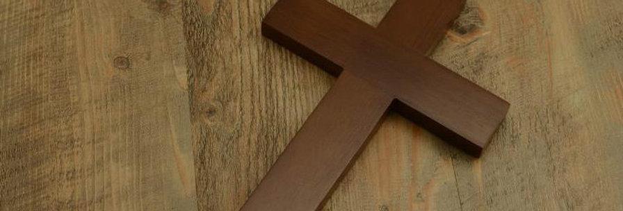 Medium 30cm Wall hanging Cross Oak Wood  Cross Christian