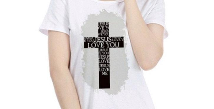 T Shirt Jesus Love You Cross