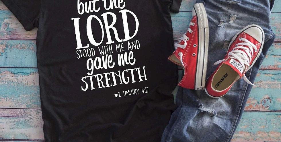 "T恤 ""主為的祐"" ""主與我同在 給我力量"" 耶穌 十字架 棉質 短袖 男女春夏 基督教"