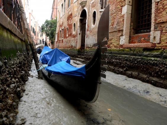 威尼斯現在可能會變乾,但有一項研究預測,到本世紀末法可能永久淹沒該城市。(新社/蓋蒂圖書館)