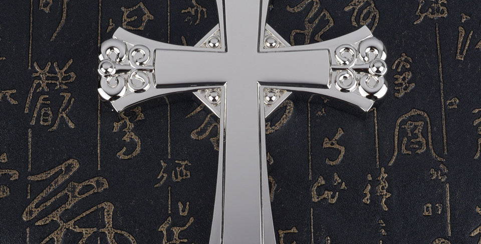 925 Silver plated 15cm Small Wall hanging cross European Design