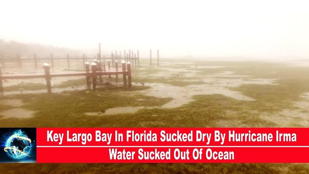颶風艾瑪把佛羅里達的LARGOBAY的水吸走了