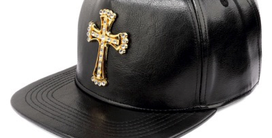 "Shalom Cap leather Hat ""Gold Cross"" New baseball cap outdoor"