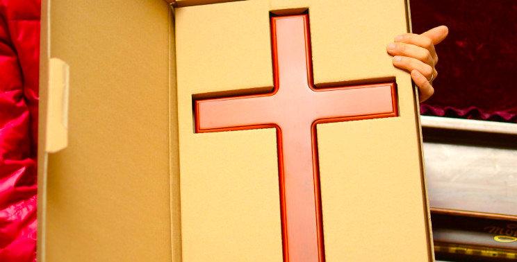 Bigger 46cm Wall hanging Cross Solid Ash Wood Cross Christian