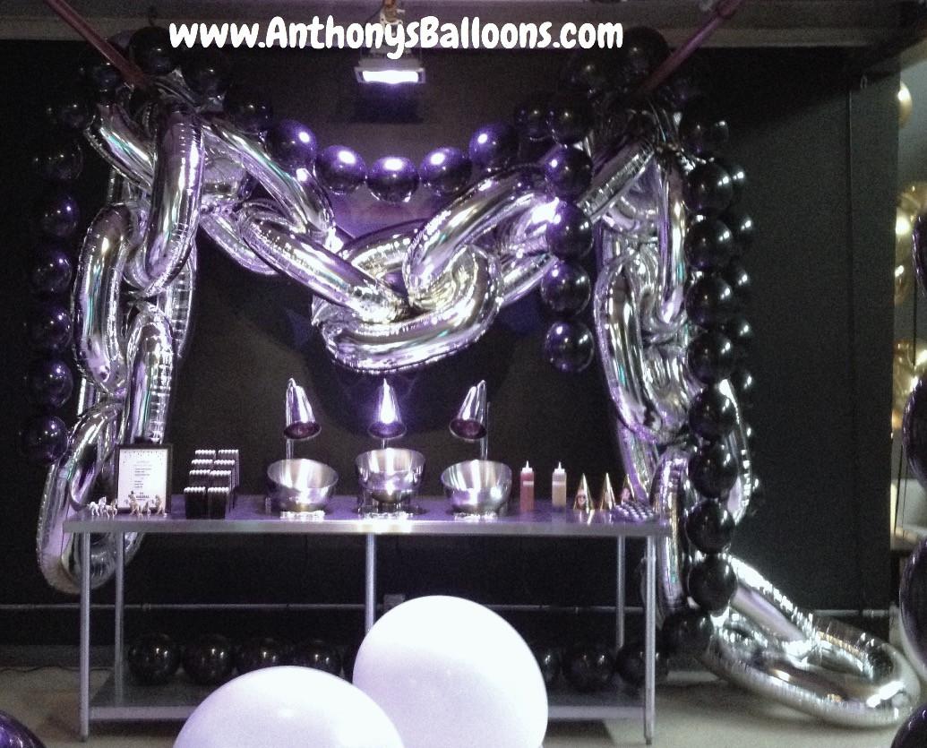 Silver Balloon Chains