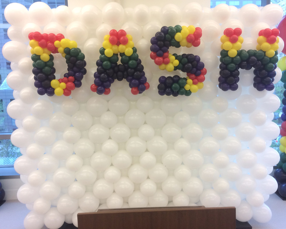 7x9 Balloon Wall with 3-D letters