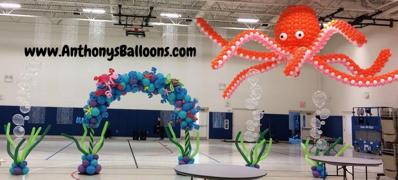 Giant Octopus Balloon Sculpture (16ft Le