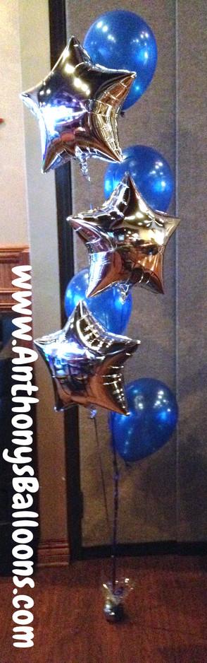 4x Latex 3x Foil Helium Arrangment