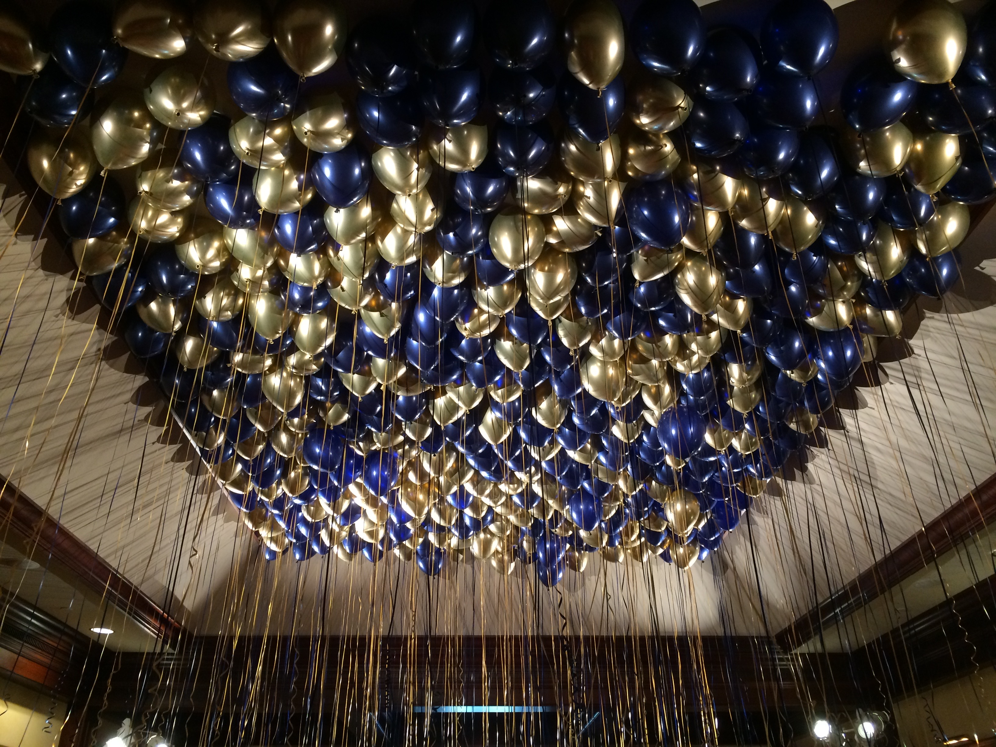 Ceiling Filled w_ Helium Balloons