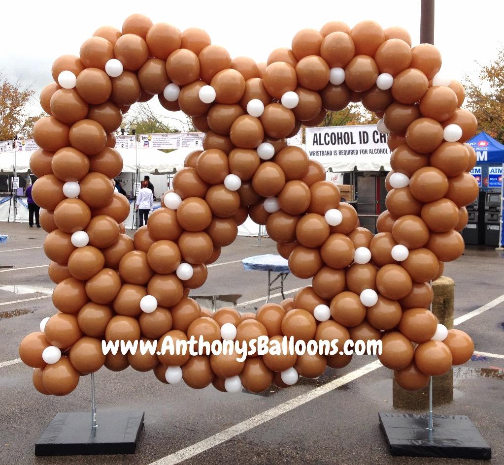 Pretzel Balloon Sculpture 10ft tall