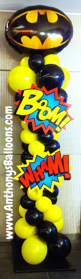 Batman Balloon Column
