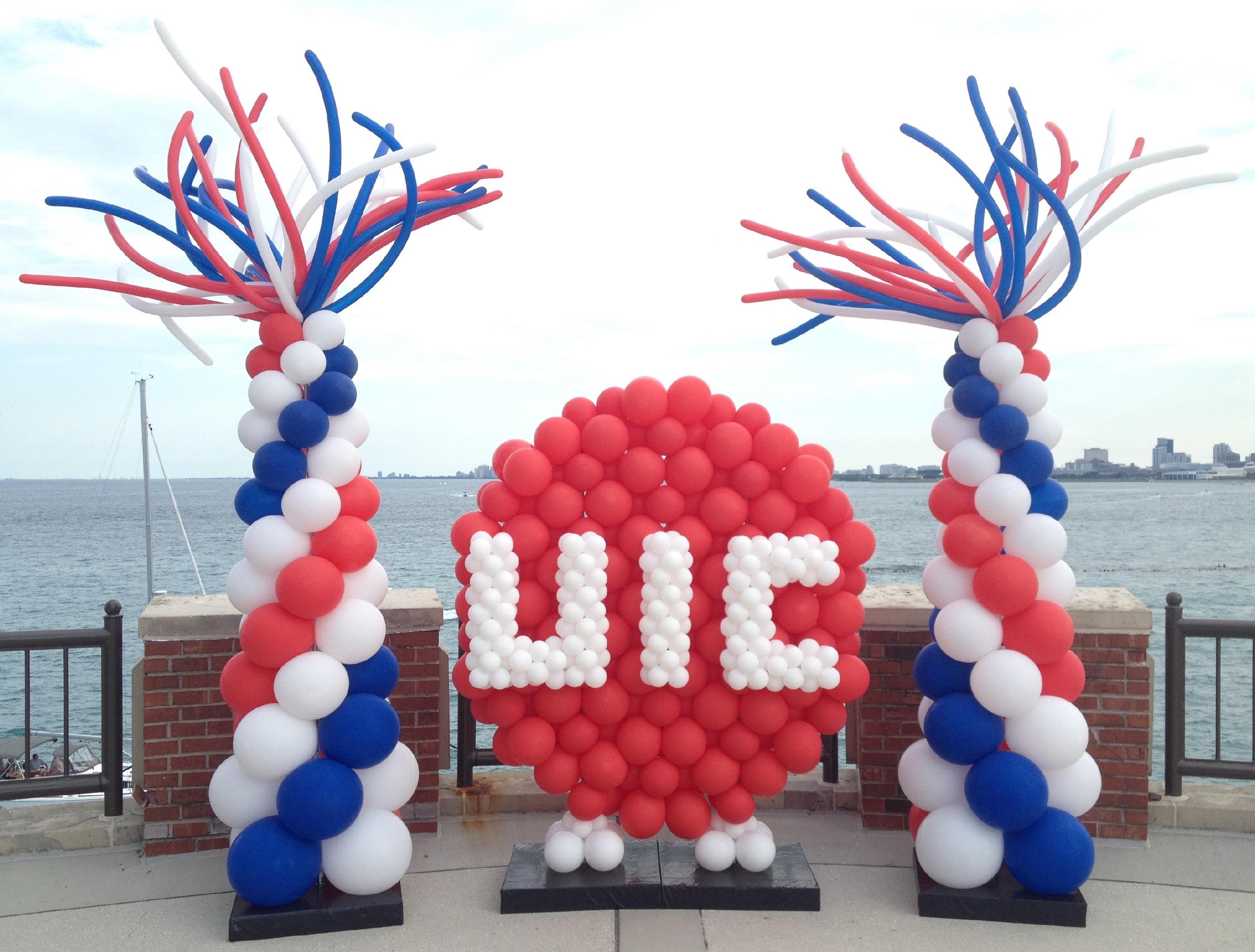 Firework Balloon Columns w_ UIC Logo