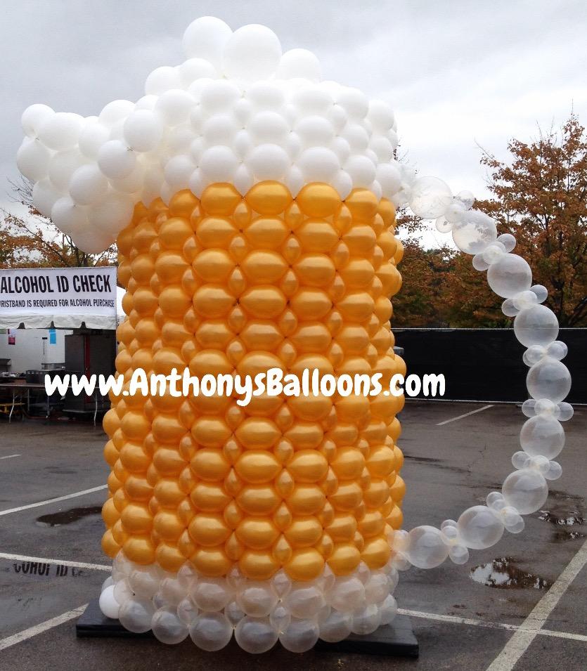 Beer Mug balloon sculpture 12ft tall