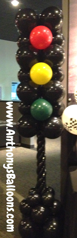 Stop Light Balloon Column