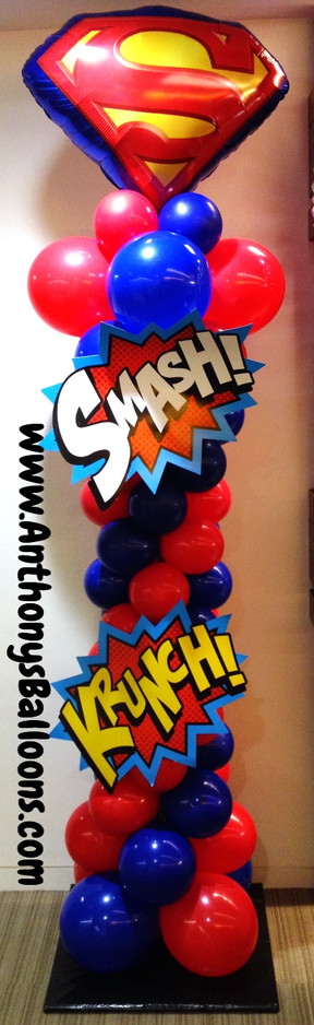Superman Balloon Column