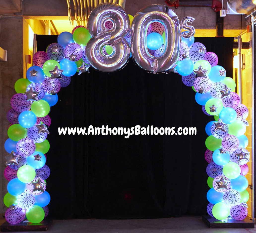 80's Lit up Balloon Arch