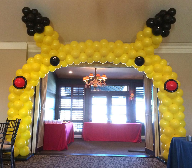Pikachu Balloon Arch