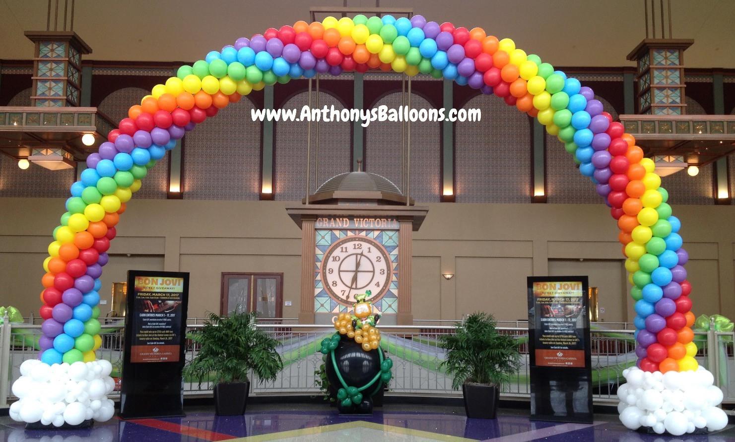 25x13 Rainbow Balloon Arch