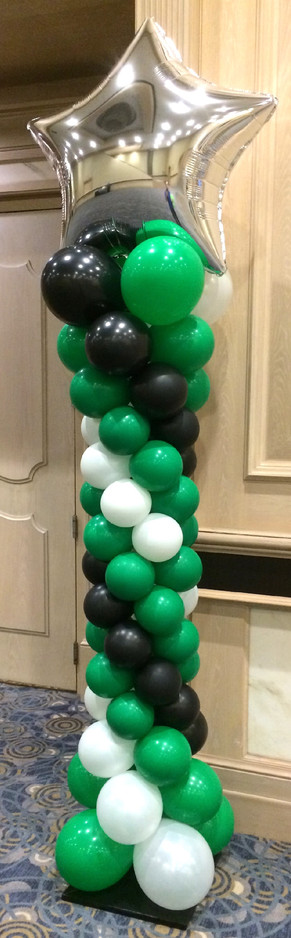 Indoor Curvy Balloon Column