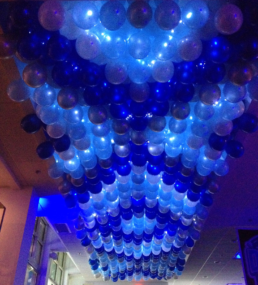 Lit up Balloon Ceiling