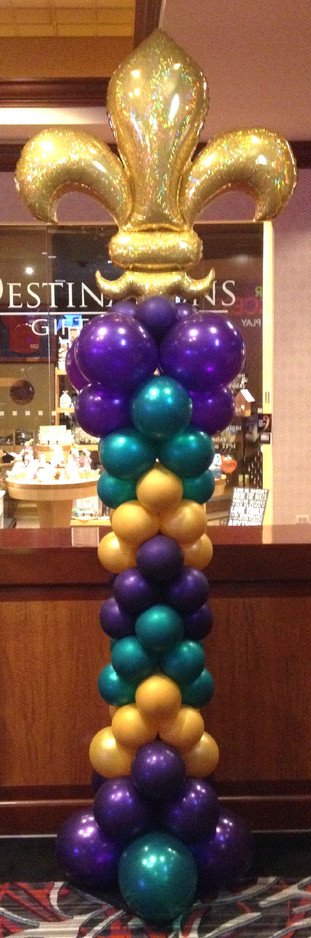 Marti Gras Balloon Column