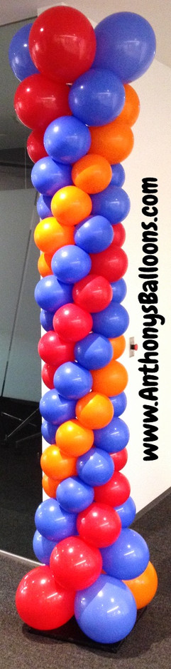 Flat top balloon columns 8ft tall