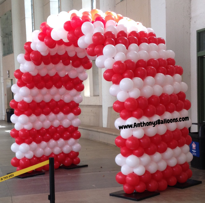 Red & White Balloon Tunnel