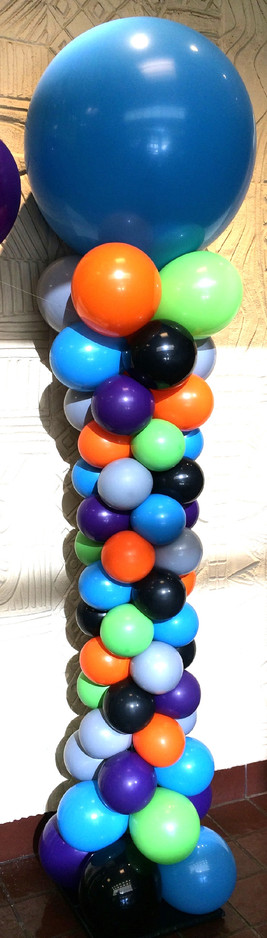 Curvy Balloon Column w/ Organic pattern