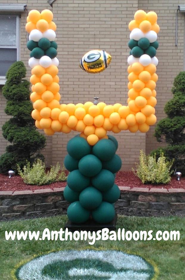 Football Field Goal Balloon Sculpture