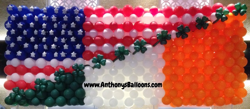 Irish American Balloon Flag
