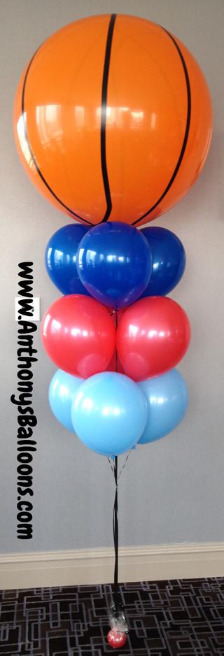 Basketball Helium Arrangment