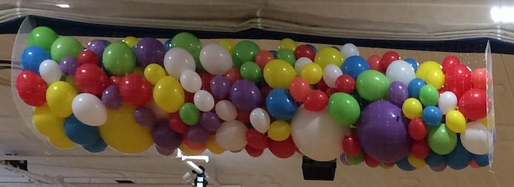 Mixed Size Balloon Drop