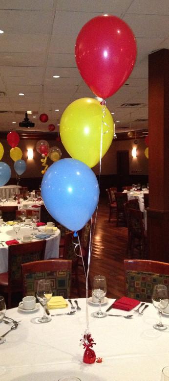 Classic 3x Balloon Table Arrangement