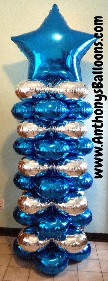 Latex Free Balloon Column