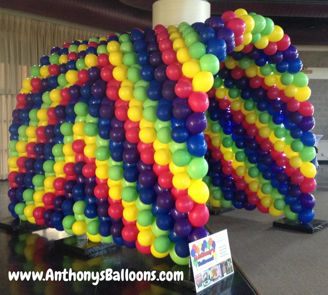 9x9x12 Rainbow Balloon Tunnel