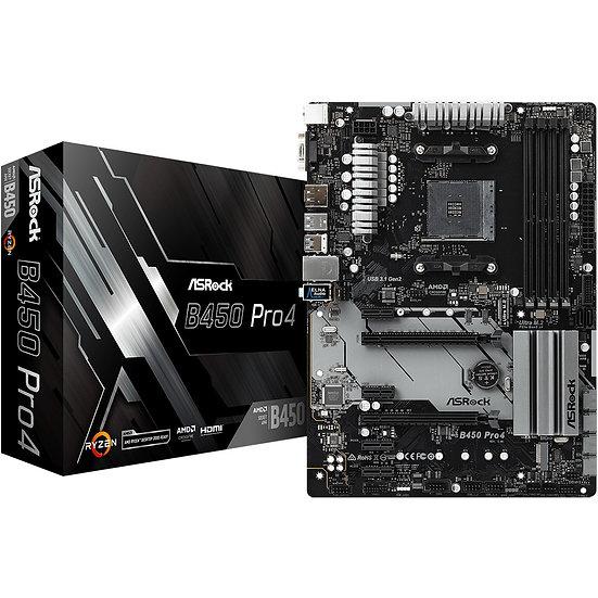 ASRock B450 Pro4 (90-MXB8B0-A0UAYZ)