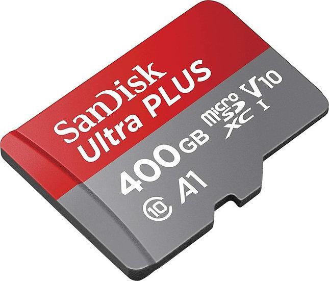 SanDisk Ultra R120 microSDXC 400GB Kit, UHS-I U1, A1, Class 10 (SDSQUA4-400G)