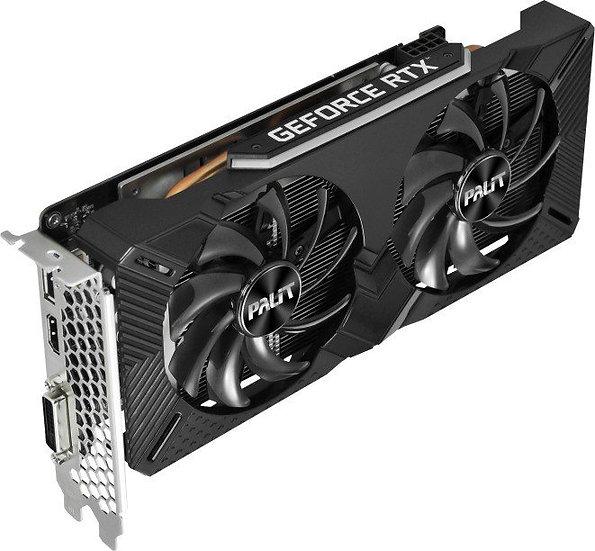 Palit GeForce RTX 2060 Dual, 6GB GDDR6, DVI, HDMI, DP (NE62060018J9-1160A)