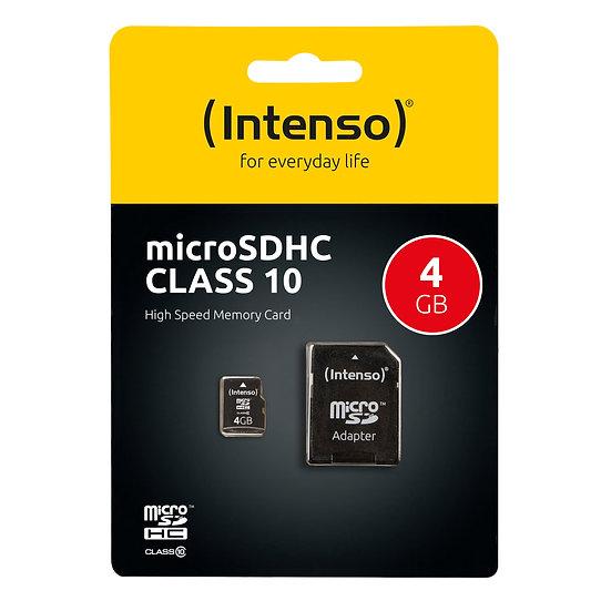 Intenso microSD Karte Class 10 4GB