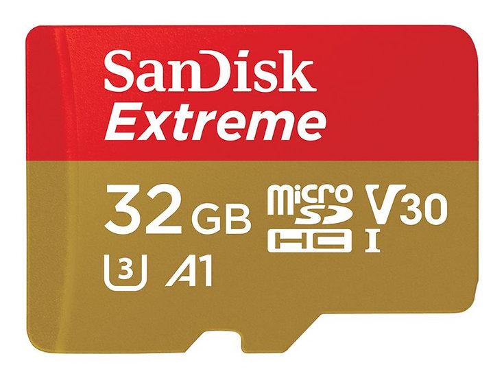 SanDisk Extreme microSD Karte 32GB Video Class V30 / UHS-I U3