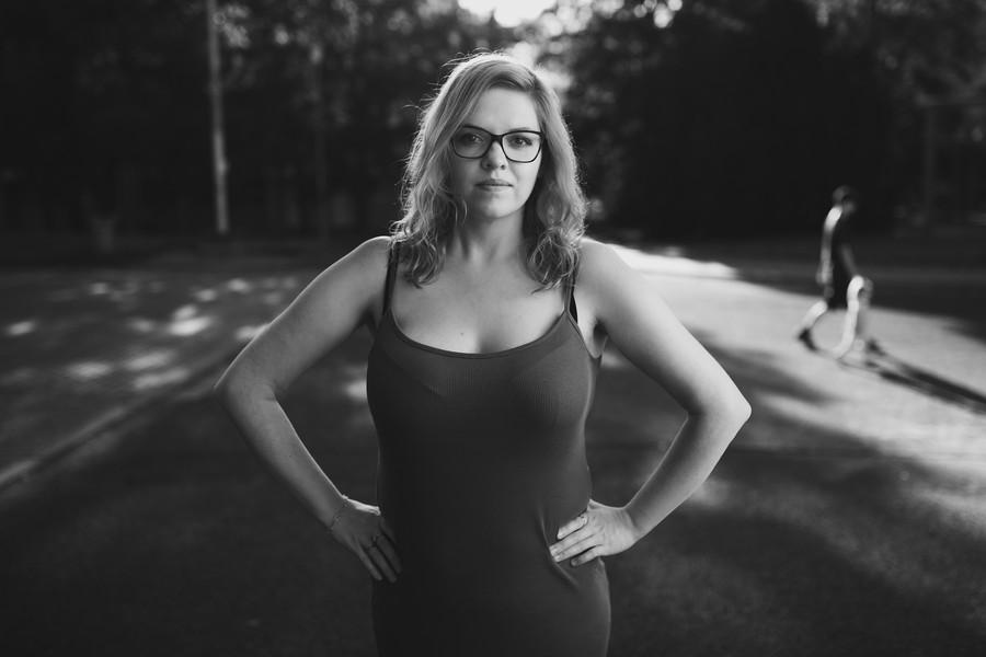 černobílí portrét ženy