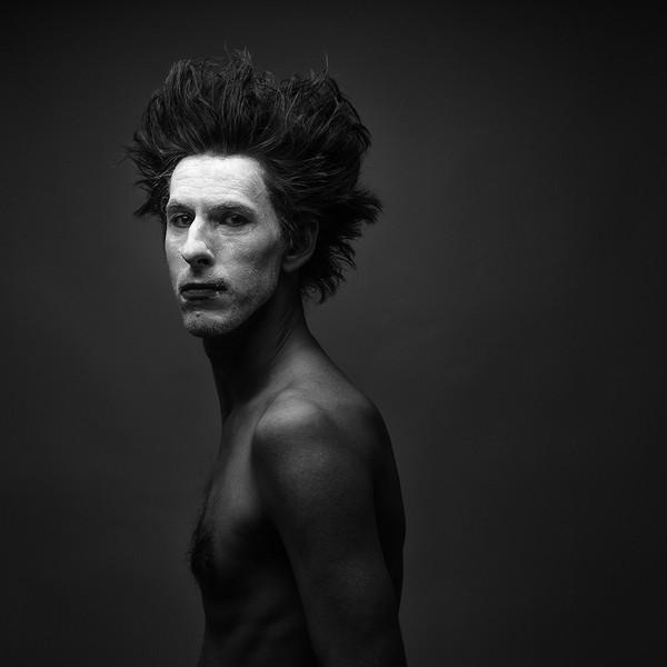 černobílí portrét