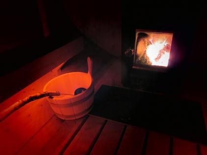 Saunafassl innen Holzofen