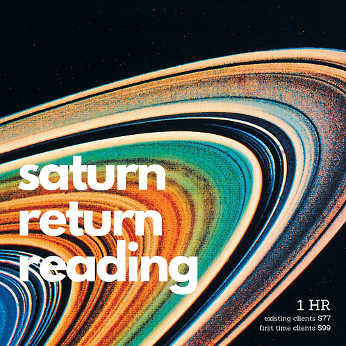 Saturn Return Reading - First Time Clients