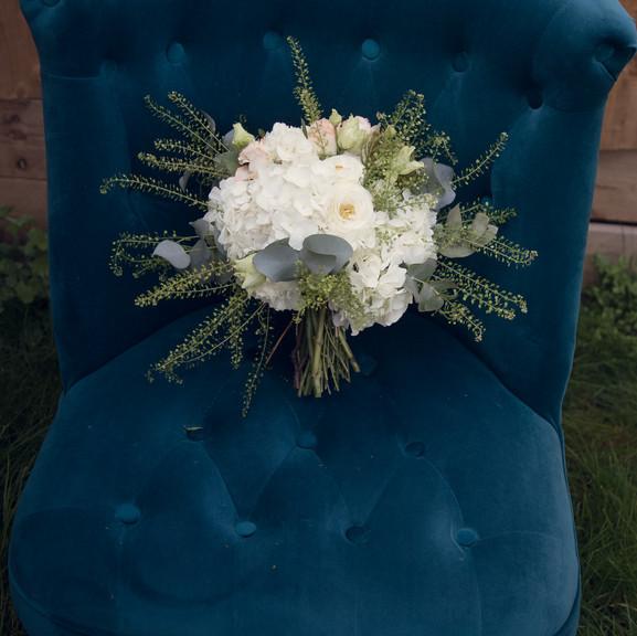 Elegant wedding bouquet.